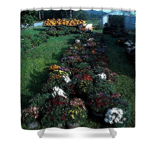 Shower Curtain featuring the photograph The Stand In Autumn by Wayne King