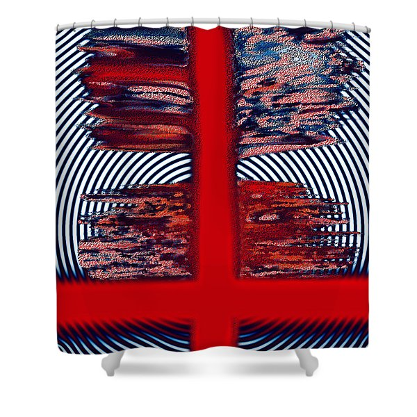 Shower Curtain featuring the digital art The Target by Mihaela Stancu