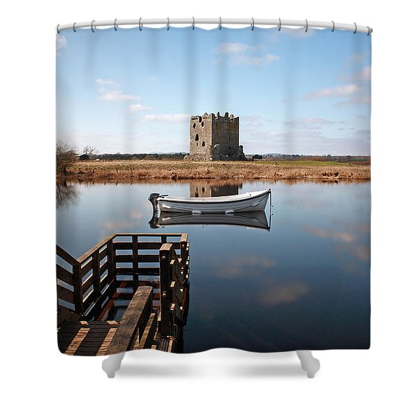 Threave Castle Reflection Shower Curtain