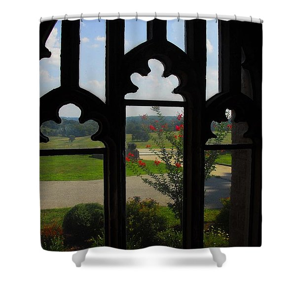Through The Chapel Arches Shower Curtain