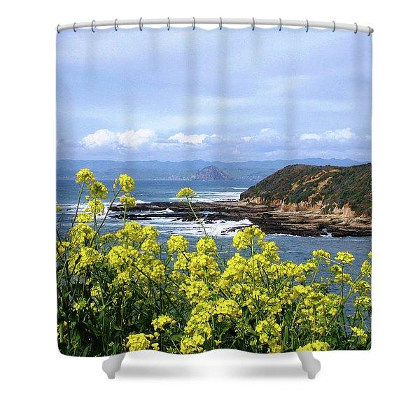 Through Yellow Flowers Shower Curtain