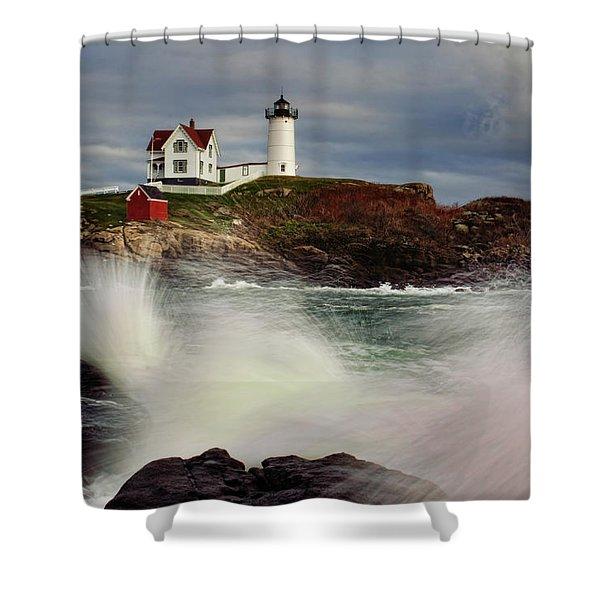 Thundering Tide Shower Curtain