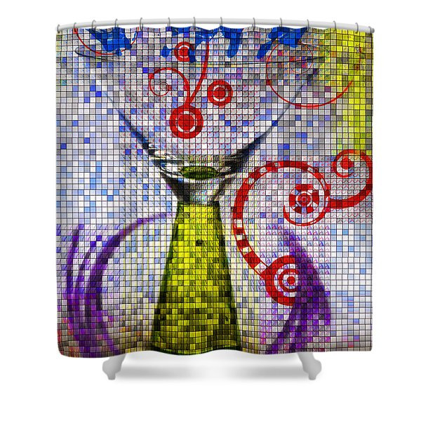Tiled Glass Shower Curtain