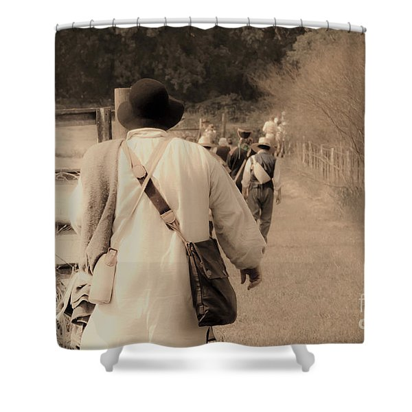 Time Travelers Shower Curtain