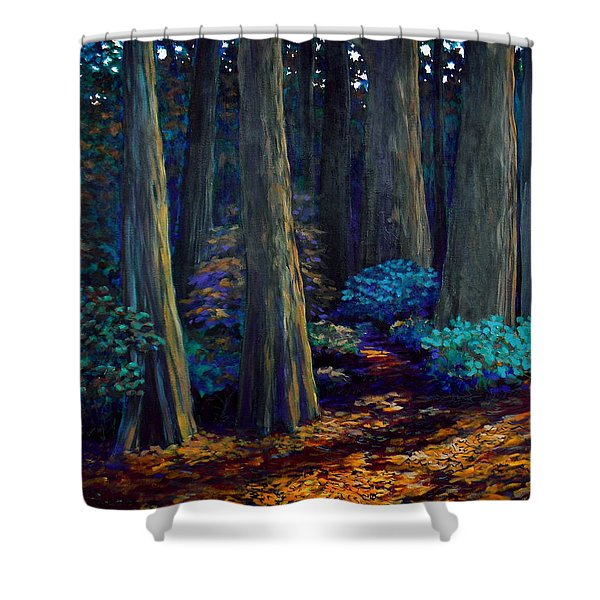 To The Woods Shower Curtain