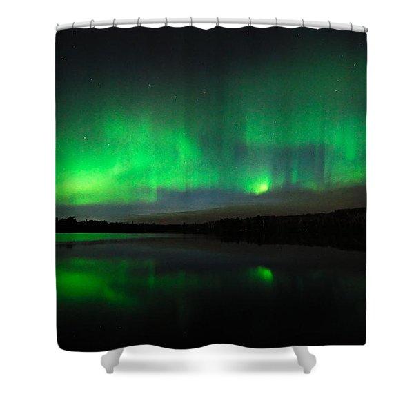 Tofte Lake Aurora Shower Curtain