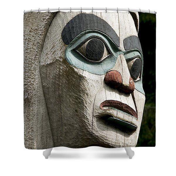 Totem Close Up Shower Curtain