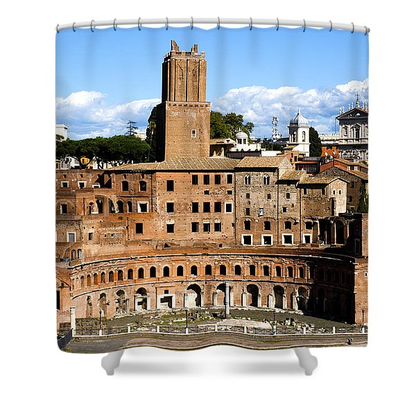 Shower Curtain featuring the photograph Trajan's Market  by Fabrizio Troiani