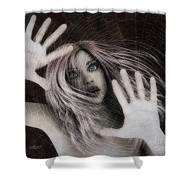 Trapped Shower Curtain