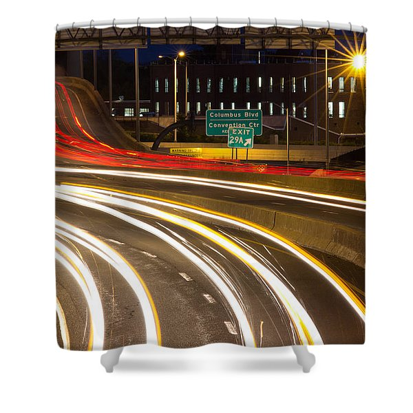Traveling In Time Shower Curtain