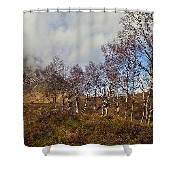 Trees Below Stob Dearg Shower Curtain