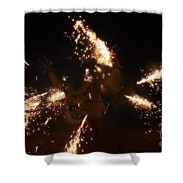 Shower Curtain featuring the photograph Trigger Dragon by Agusti Pardo Rossello