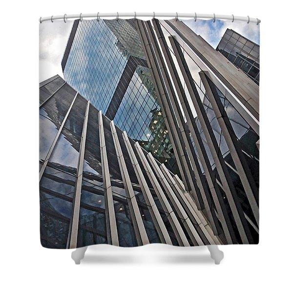 Trylon Towers Shower Curtain