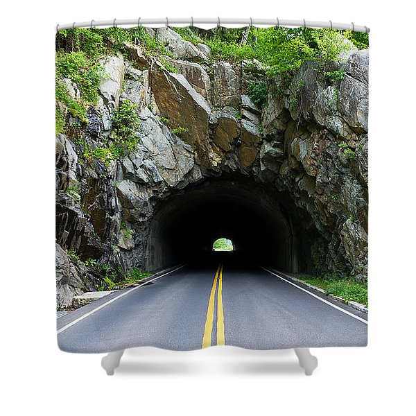 Tunnel On A Lonely Road Shower Curtain