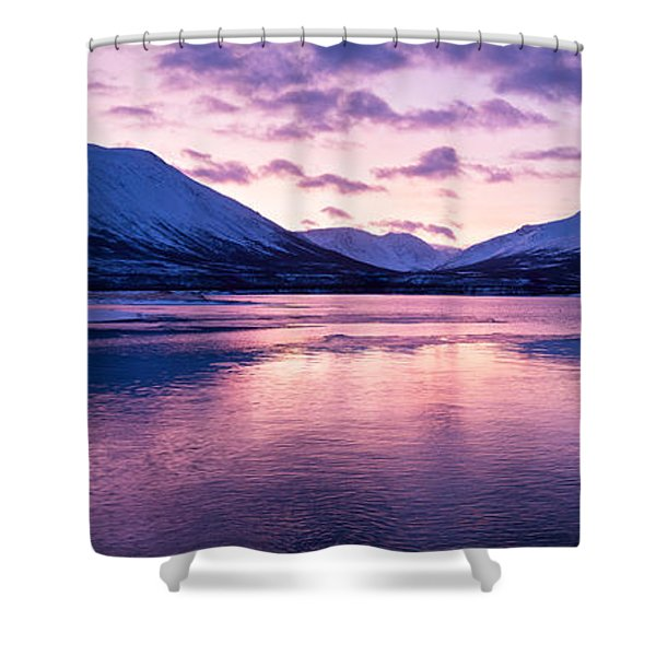 Twilight Above A Fjord In Norway With Beautifully Colors Shower Curtain