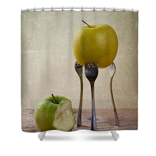 Two Apples Shower Curtain