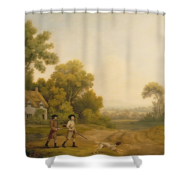 Two Gentlemen Going A Shooting Shower Curtain