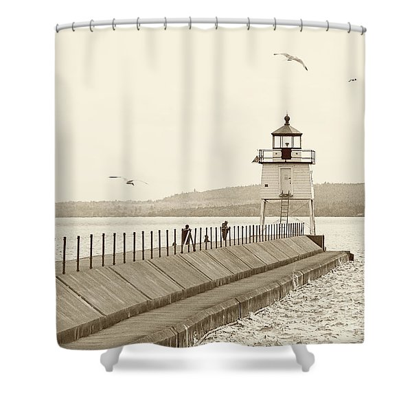 Two Harbors Shower Curtain
