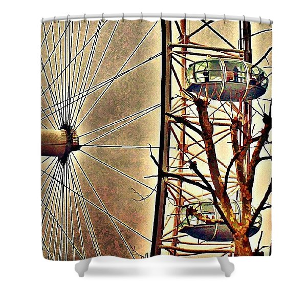 Two Thousand Spikes In London Shower Curtain