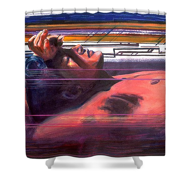 Under Lying Currents Shower Curtain