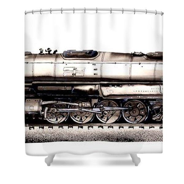 Union Pacific 4-8-8-4 Steam Engine Big Boy 4005 Shower Curtain