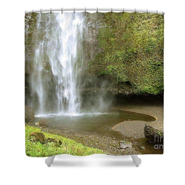 Upper Cascade Pool Multnomah Falls Or Shower Curtain