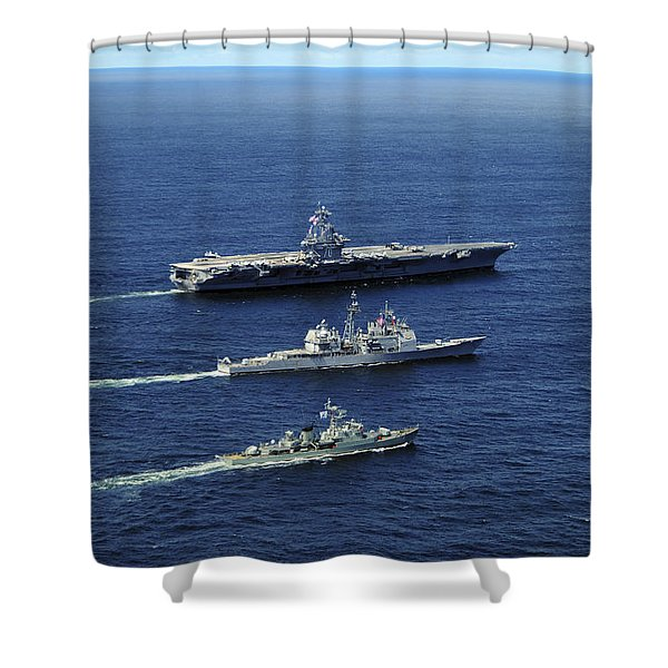 U.s. Navy Ships Perform Tactical Shower Curtain