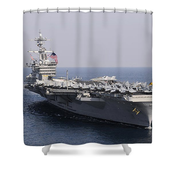 Uss Carl Vinson And Uss Bunker Hill Shower Curtain