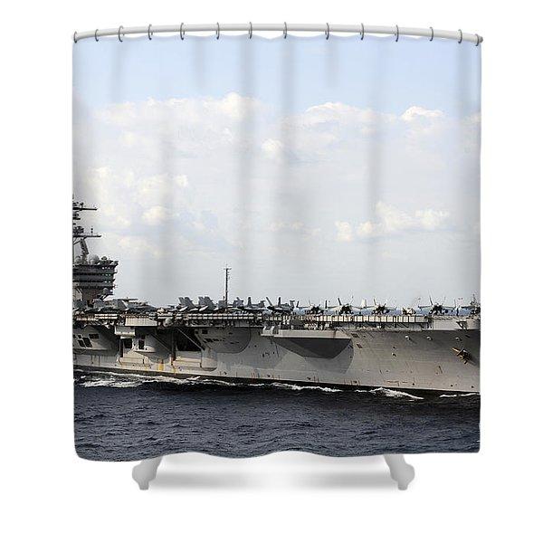 Uss Carl Vinson Underway In The Arabian Shower Curtain