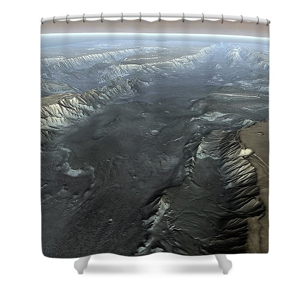 Valles Marineris, The Grand Canyon Shower Curtain