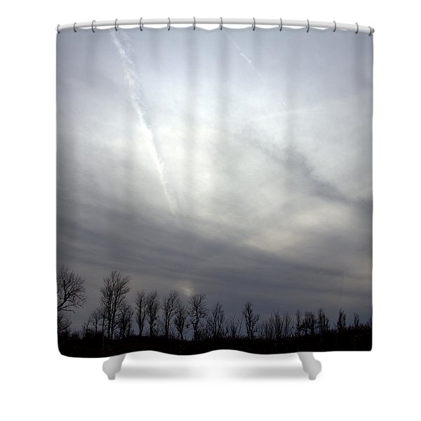 Vapor Trail Shower Curtain