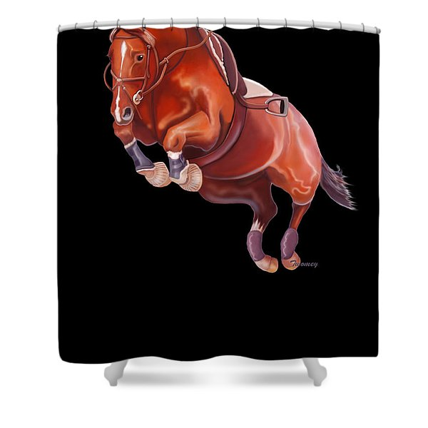 Very Free Jump On Course Shower Curtain