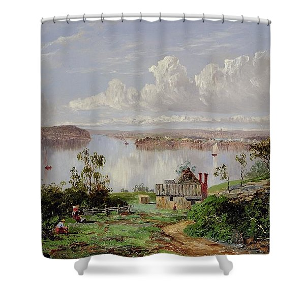 View From Onions Port Sydney  Shower Curtain
