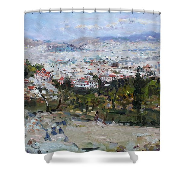 View Of Athens From Acropolis Shower Curtain