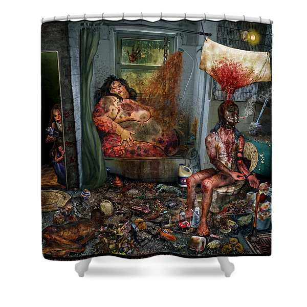 Vile World To View Shower Curtain
