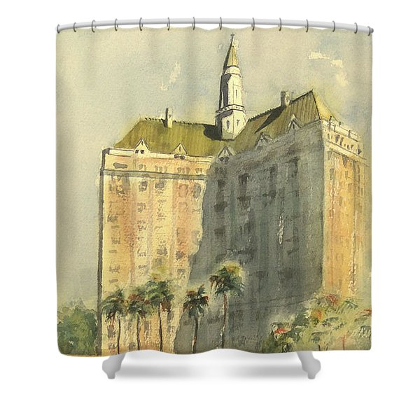 Villa Riviera Another View Shower Curtain