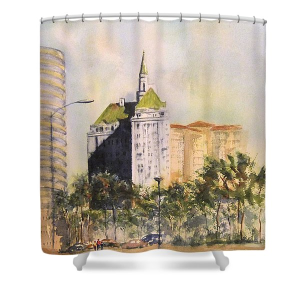 Villa Riviera  Shower Curtain