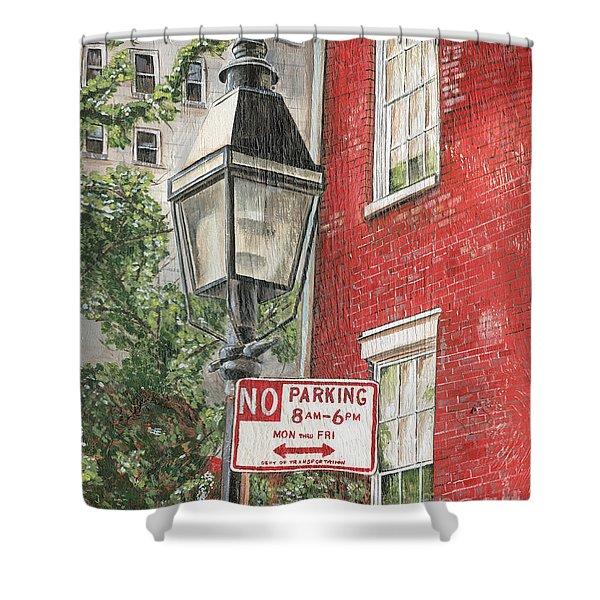 Village Lamplight Shower Curtain