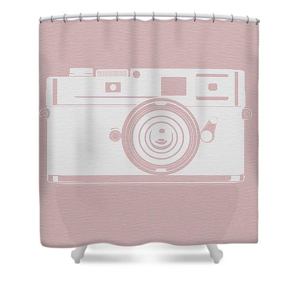 Vintage Camera Poster Shower Curtain