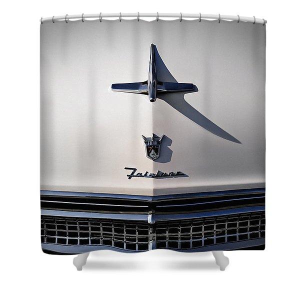 Vintage Ford Fairlane Hood Ornament Shower Curtain