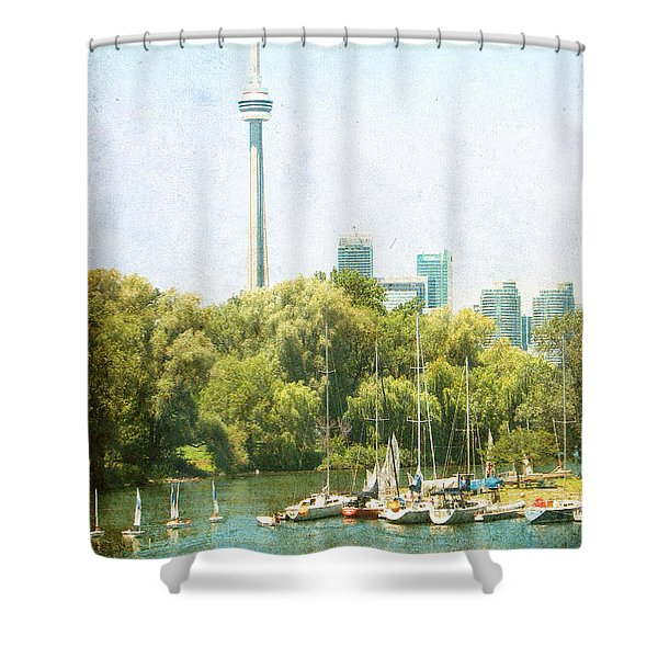 Vintage Toronto Shower Curtain