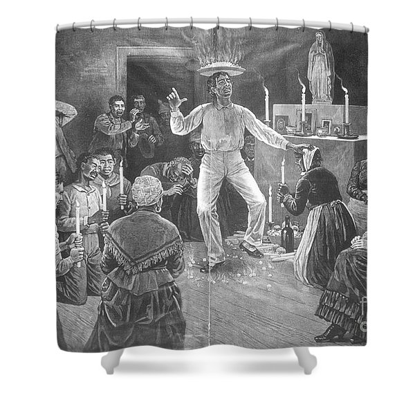 Voodoo Ritual, 1887 Shower Curtain
