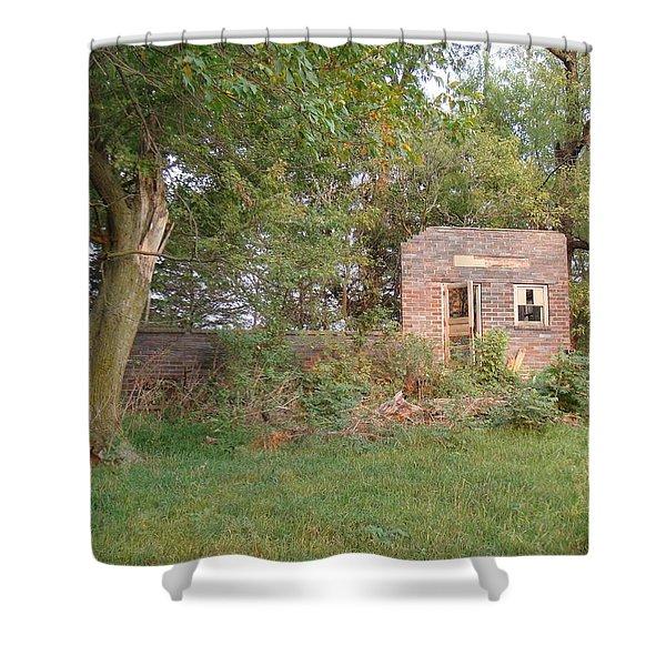 Walnut Grove School Ruins Shower Curtain