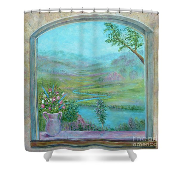 Shower Curtain featuring the painting Walton's Valley by Lynn Buettner