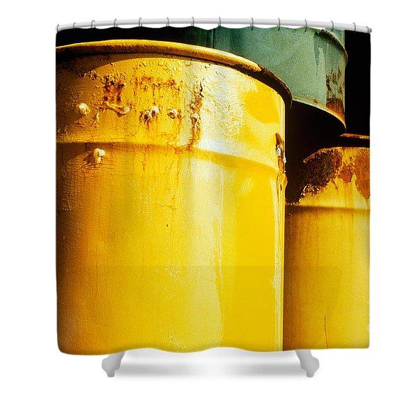 Waste Drums Shower Curtain