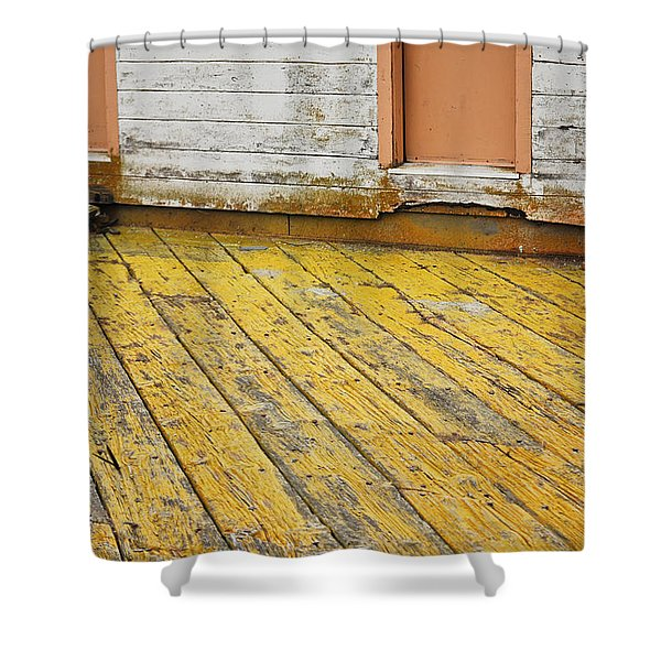 Weathered Monterey Building Shower Curtain