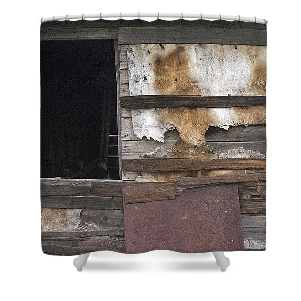 Weathered Shed Shower Curtain