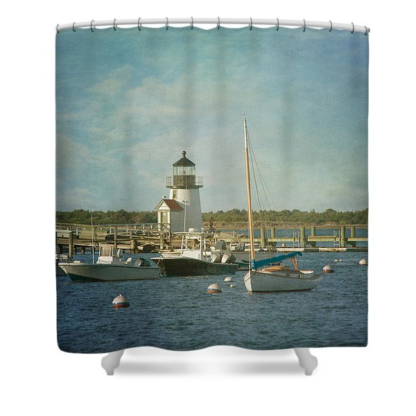 Welcome To Nantucket Shower Curtain