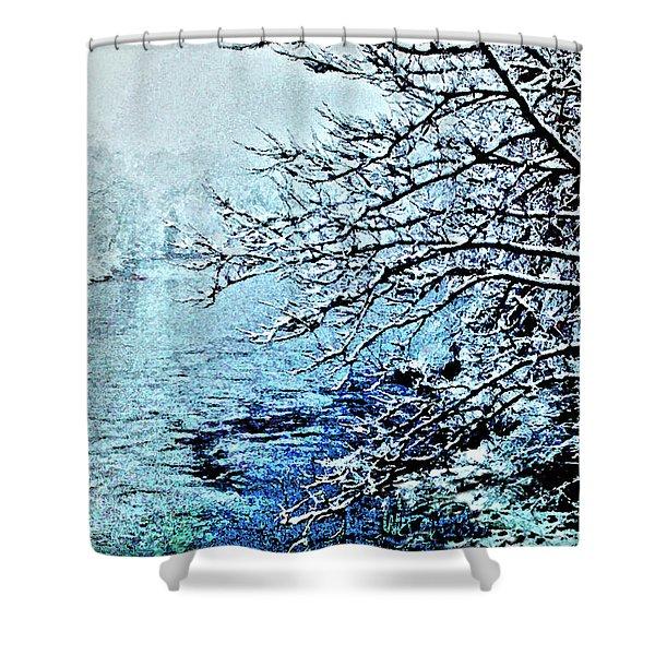 West River Snow Shower Curtain