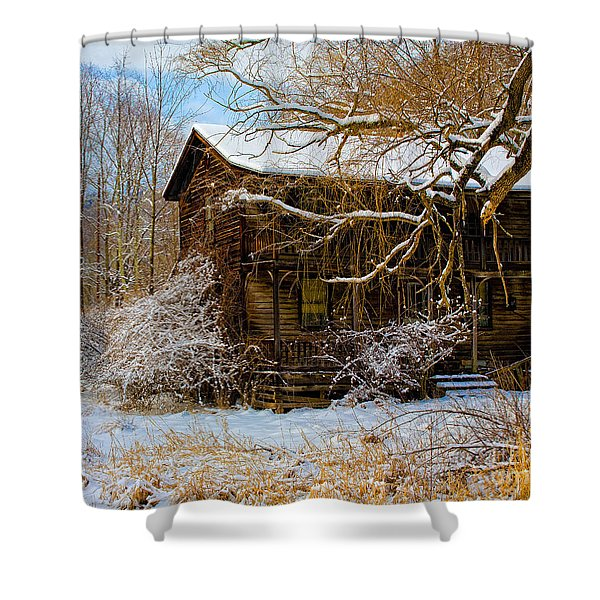 West Virginia Winter Shower Curtain